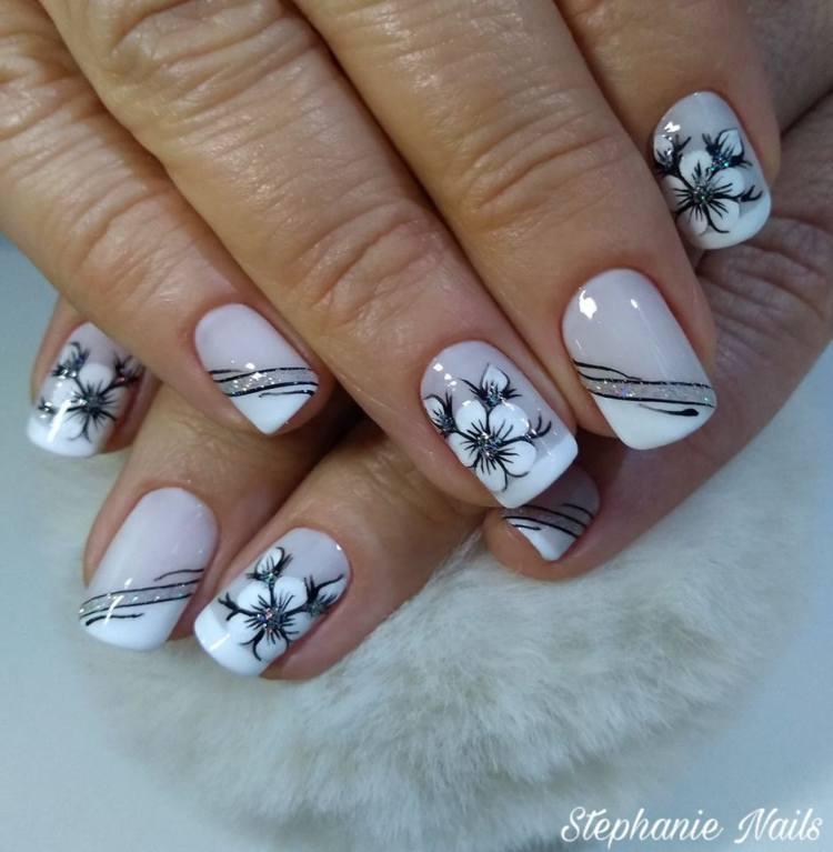 Unhas com flores109