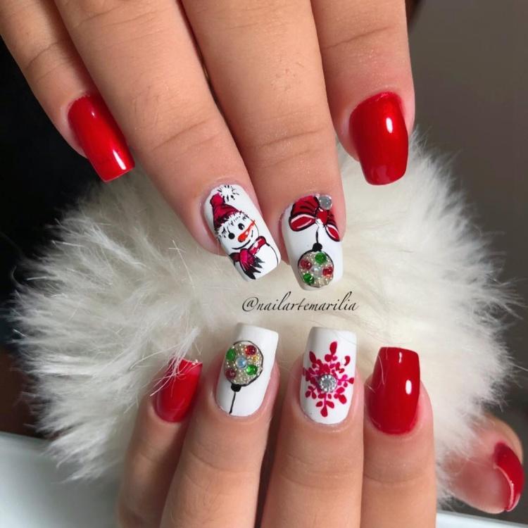 Combinações de Esmaltes Vermelhos para o Natal