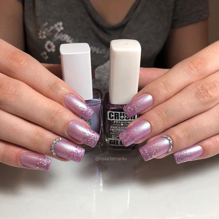 Unhas com Glitter