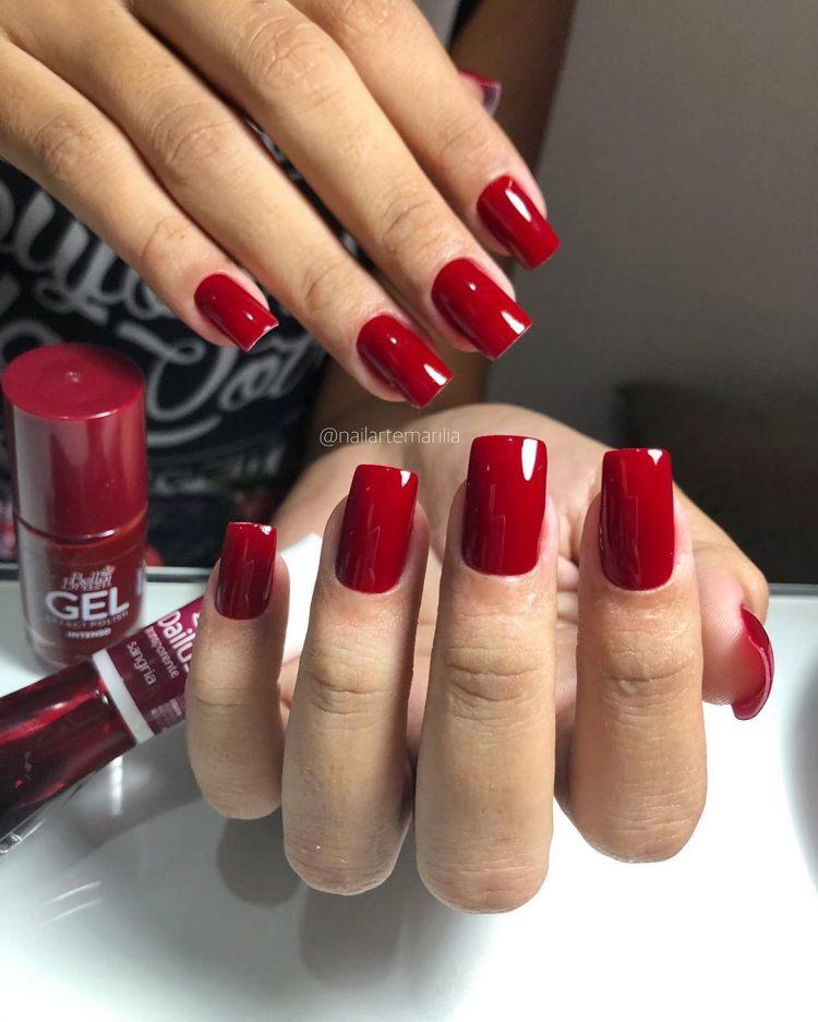 Combinações de esmaltes vermelhos18