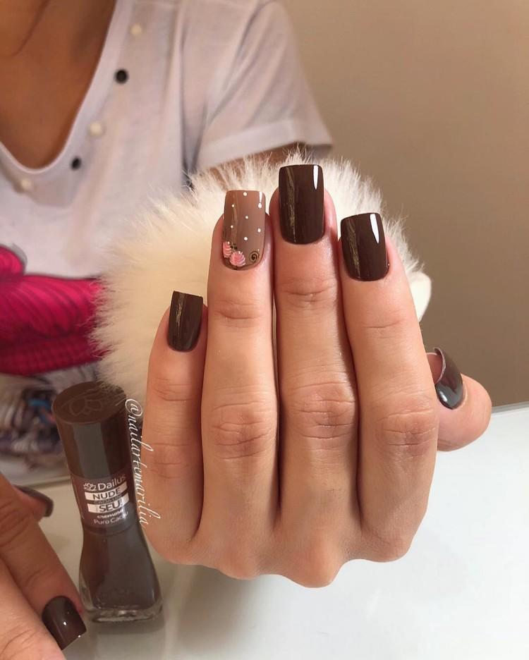 47 Melhores decorações de unhas com rosas, unhas decoradas bonitas