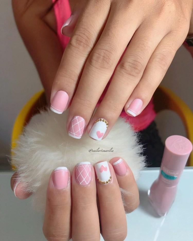 17 modelos de unhas esmlatadas de rosa , inspire com todas essas fotos