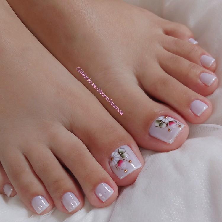 19 Modelos e Fotos das melhores unhas dos pés decoradas, ideias de nailart1
