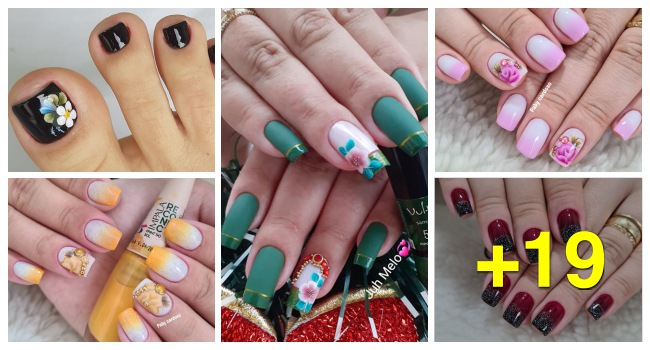 19 Ideias de Unhas Decoradas para Arrasar no Final de Semana