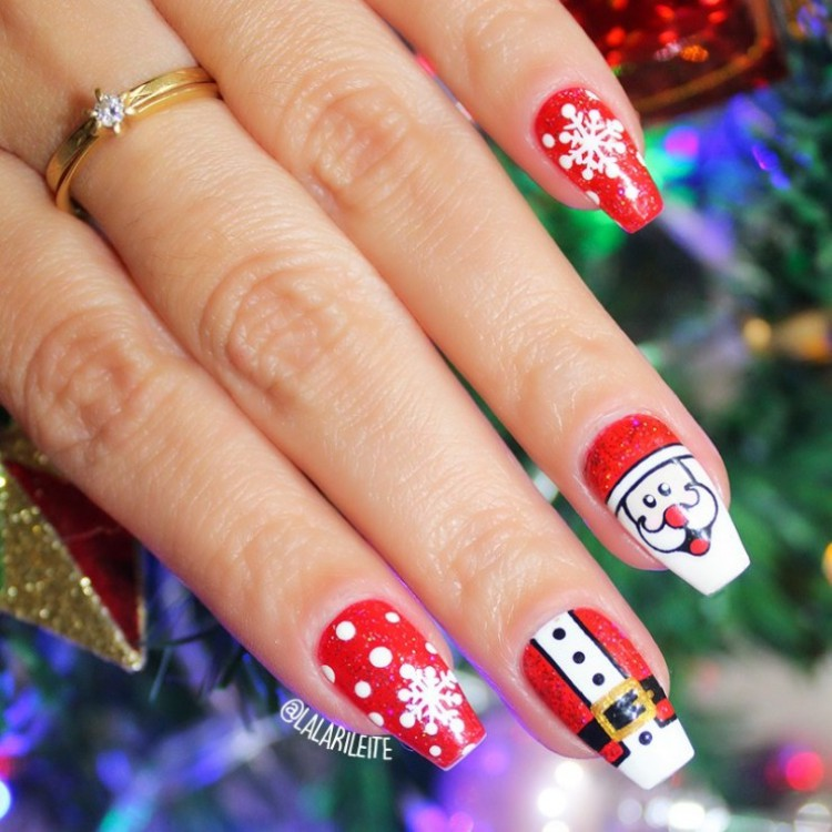 Decorações de unhas Natalicias para você se inspirar nesta época maravilhosa
