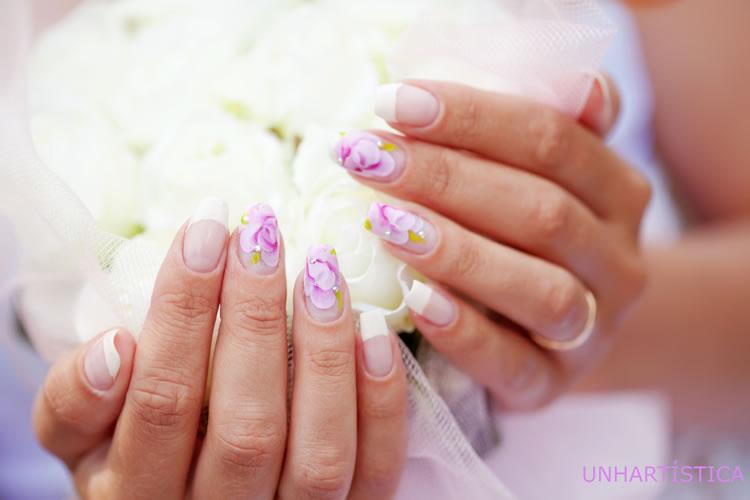 Decorações de unhas de noiva