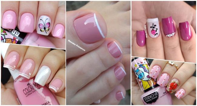 17 modelos de unhas esmlatadas de rosa , inspire com todas essas fotos10112.1